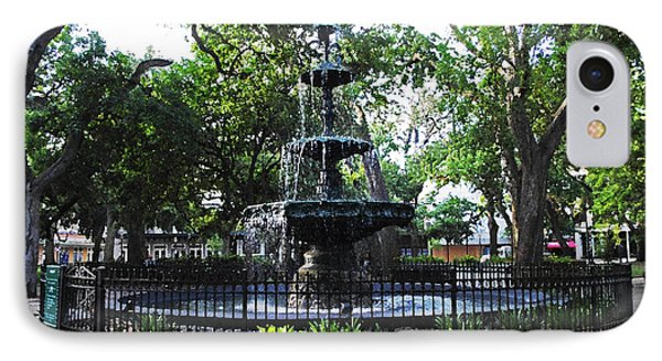 Bienville Fountain Mobile Alabama IPhone Case by Michael Thomas