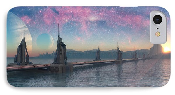 Bifrost Bridge IPhone Case by Cynthia Decker