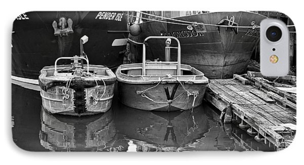 IPhone Case featuring the photograph Big And Little Boats by Maria Janicki
