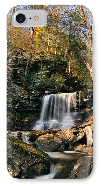 Big Autumn View At B. Reynolds Falls IPhone Case by Gene Walls