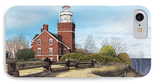 Big Bay Point Lighthouse Phone Case by Darren Kopecky