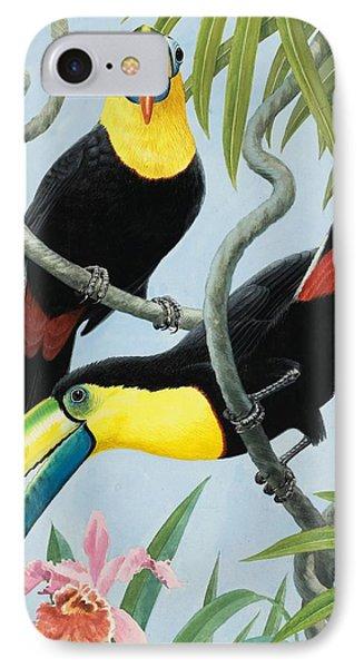 Big-beaked Birds IPhone 7 Case by RB Davis