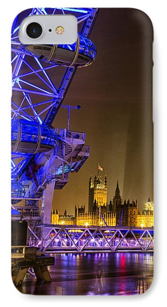 Big Ben And The London Eye IPhone Case by Ian Hufton