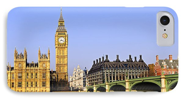 Big Ben And Westminster Bridge IPhone 7 Case by Elena Elisseeva