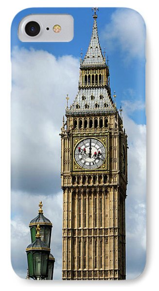 Big Ben Clock Tower And Cleaning IPhone Case by Mark Thomas