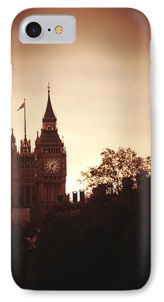 Big Ben In Sepia IPhone Case by Rachel Mirror