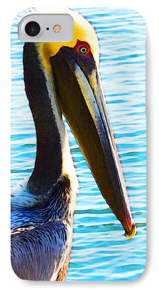 Big Bill - Pelican Art By Sharon Cummings IPhone Case by Sharon Cummings