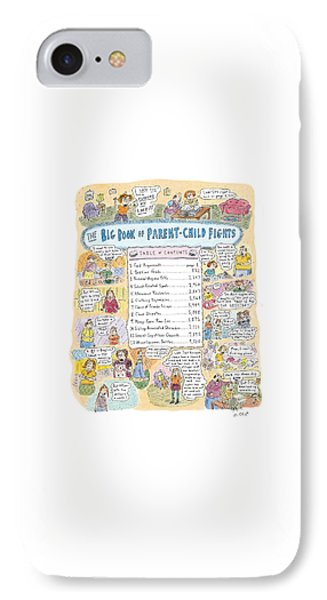 'big Book Of Parent-child Fights' IPhone Case by Roz Chast