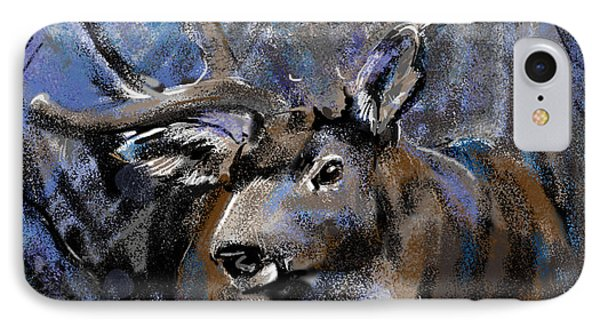 Big Buck IPhone Case by Synnove Pettersen