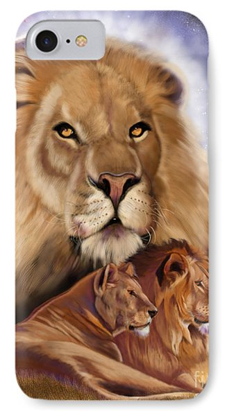 Third In The Big Cat Series - Lion IPhone Case by Thomas J Herring
