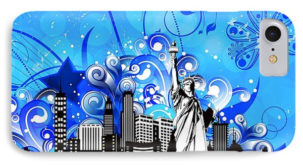 Big City Blues 4 Liberty Phone Case by Stanley Mathis