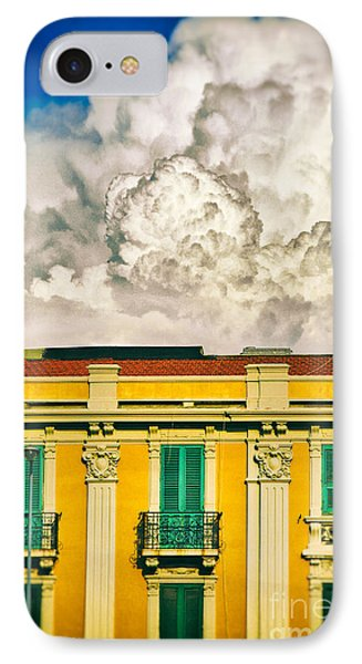 IPhone 7 Case featuring the photograph Big Cloud Over City Building by Silvia Ganora