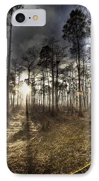 Big Cypress Fire At Sunset IPhone Case by Bradley R Youngberg