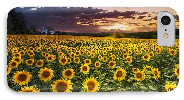 Big Field Of Sunflowers Phone Case by Debra and Dave Vanderlaan