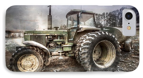 Big John In Winter IPhone Case by Debra and Dave Vanderlaan