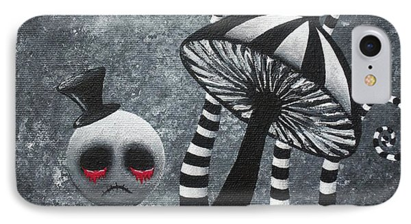 Big Juicy Tears Of Blood And Pain 6 Going 2 A Tea Party IPhone Case by Oddball Art Co by Lizzy Love