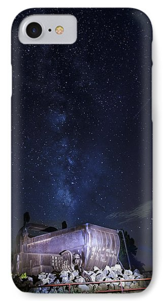 Big Muskie Bucket Milky Way And A Shooting Star IPhone Case by Jack R Perry