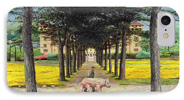 Big Pig, Pistoia, Tuscany  IPhone Case by Trevor Neal