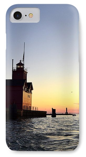 Big Red At Sunset Phone Case by Michelle Calkins