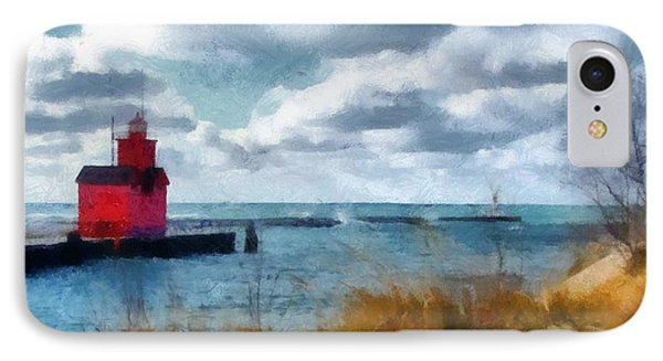 Big Red Big Wind 2.0 IPhone Case by Michelle Calkins