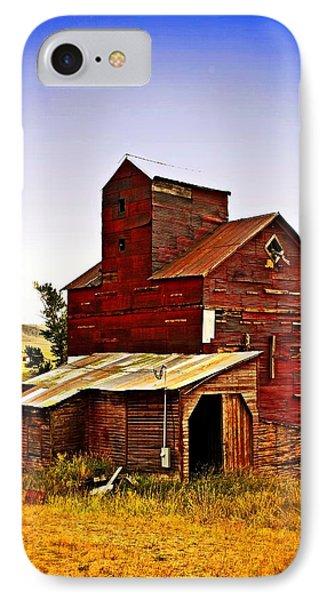 Big Red Grain Elevator Phone Case by Marty Koch