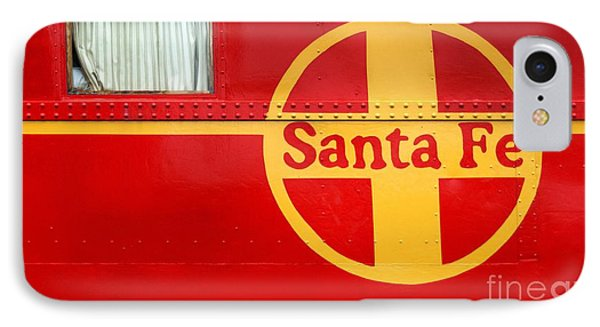 Big Red Santa Fe Caboose IPhone Case by Paul W Faust -  Impressions of Light