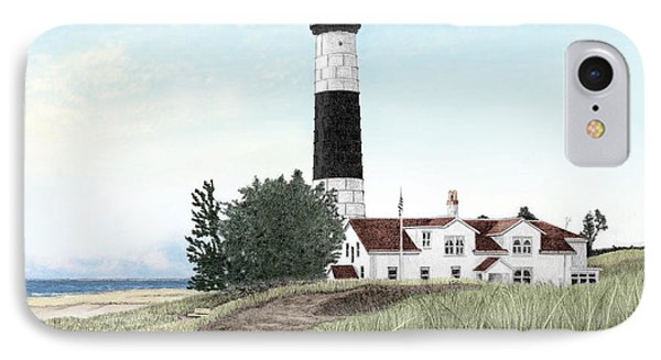 Big Sable Point Lighthouse Phone Case by Darren Kopecky