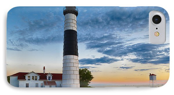 Big Sable Point Lighthouse Sunset IPhone Case by Sebastian Musial