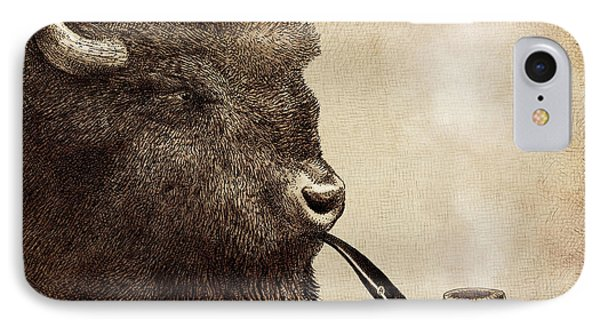 Bison iPhone 7 Case - Big Smoke by Eric Fan