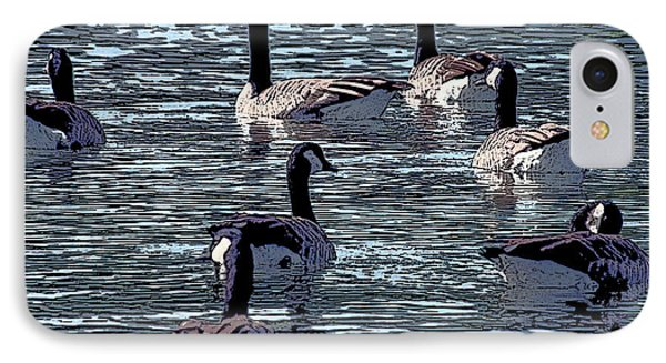IPhone Case featuring the digital art Big Spring Goose Art I   by Lesa Fine