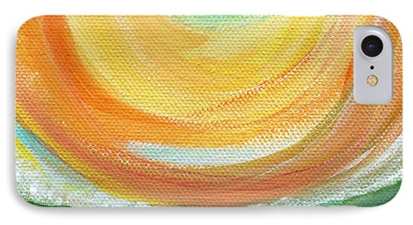 Big Sun- Abstract Landscape  IPhone Case by Linda Woods