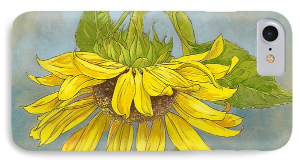 Big Sunflower IPhone Case by Tracie Thompson