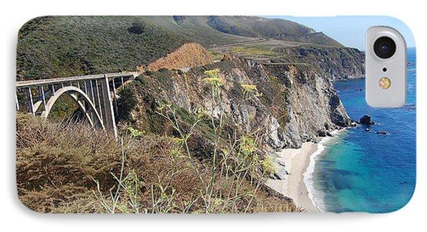IPhone Case featuring the photograph Big Sur Bixby Bridge And Beach by Debra Thompson