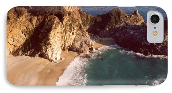 Big Sur Water Falls IPhone Case by Marlene Rose Besso