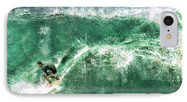 Big Wave Surfing Phone Case by Elaine Plesser
