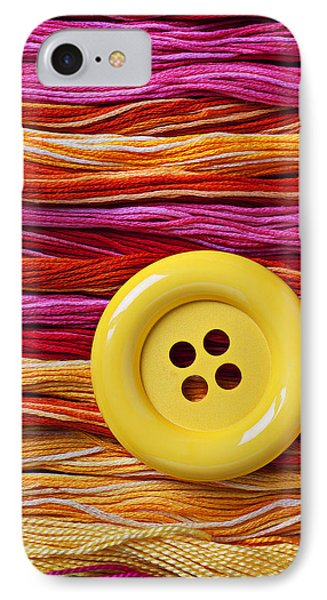 Big Yellow Button  Phone Case by Garry Gay