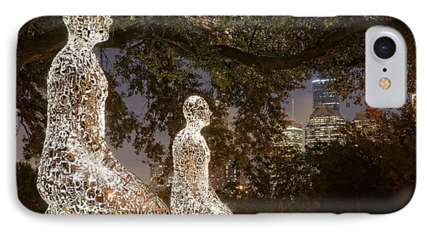 Bigger Than The Sum Of Our Parts - Tolerance Sculptures Downtown Houston Texas IPhone Case by Silvio Ligutti