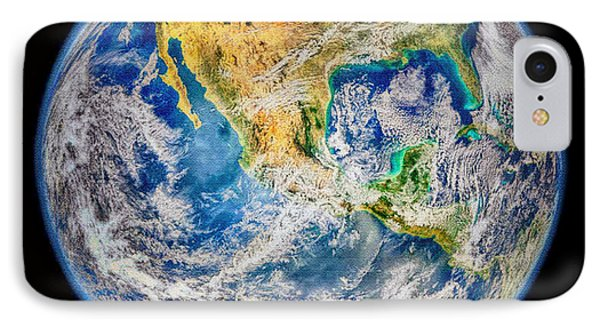 Biggest Image Of Earth Ever N. A. S. A Phone Case by Bob and Nadine Johnston