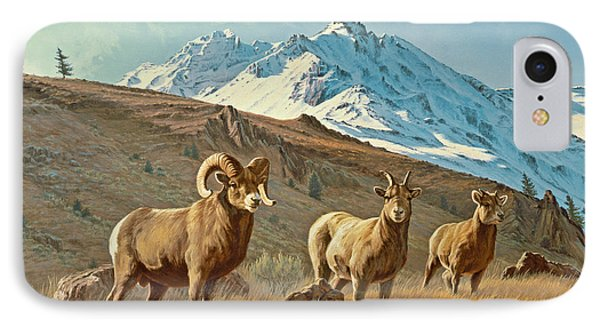 Bighorn Below Electric Peak IPhone Case by Paul Krapf