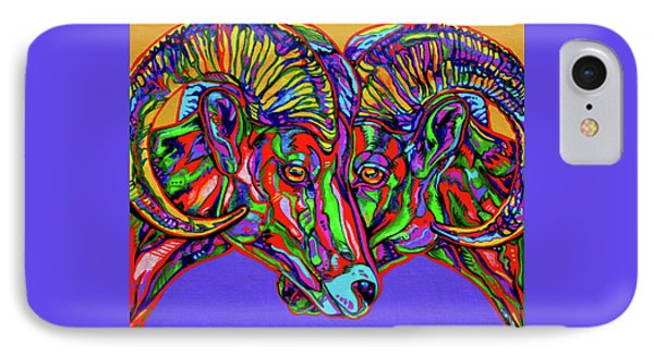 Bighorn Sheep Phone Case by Derrick Higgins