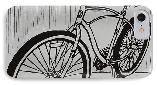 IPhone Case featuring the drawing Bike 6 by William Cauthern