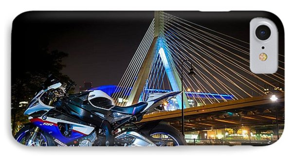 Bike And Bridge IPhone Case by Lawrence Christopher