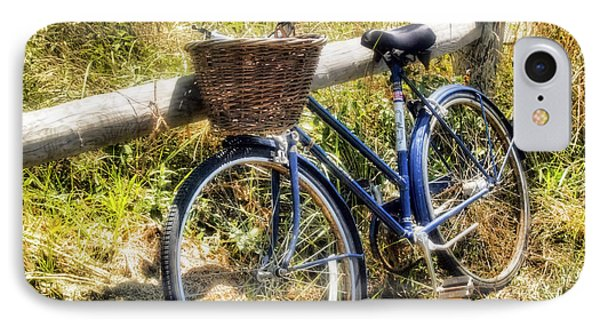 Bike At Nantucket Beach IPhone Case by Tammy Wetzel