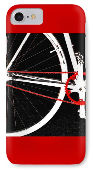 Bike In Black White And Red No 2 Phone Case by Ben and Raisa Gertsberg