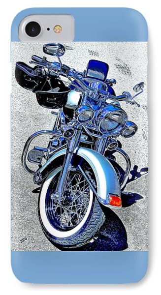 Bike In Blue For Two Phone Case by Ben and Raisa Gertsberg