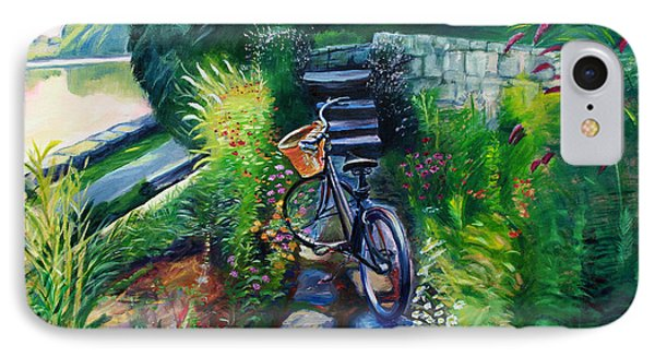 Bike In The Butterfly Garden Phone Case by Colleen Proppe