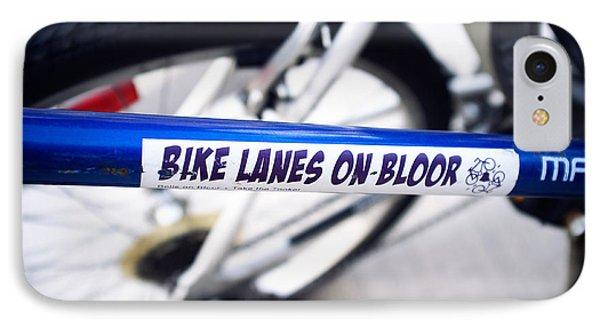 Bike Lanes On Bloor IPhone Case