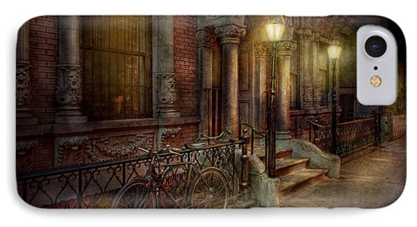 Bike - Ny - Greenwich Village - In The Village  Phone Case by Mike Savad