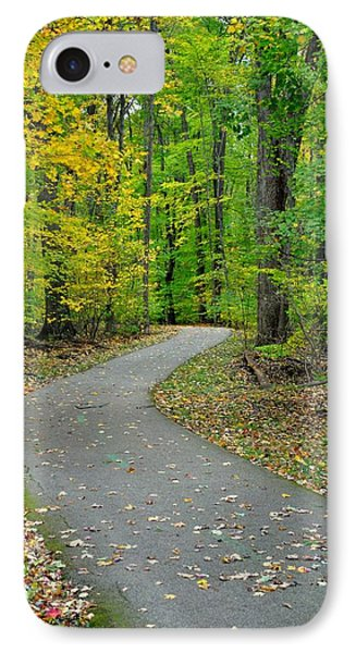 Bike Path Phone Case by Frozen in Time Fine Art Photography