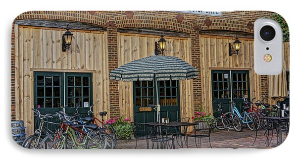 Bike Shop Cafe Katty Trail St Charles Mo Dsc00860 IPhone Case by Greg Kluempers